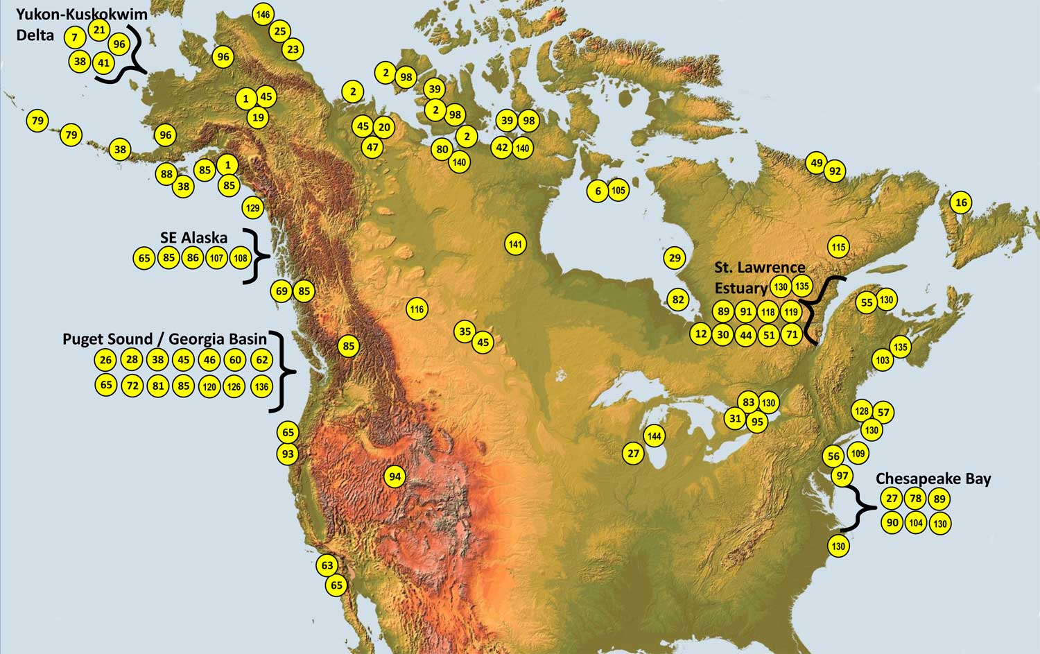 North american field projects funded by sdjv since 2001